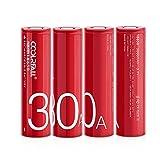 CoolReall 18650 Akku, 4er Pack 18650...