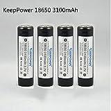 KeepPower 186503100mAh Protected Akku Li-Ion...