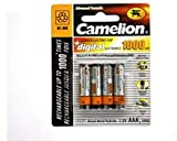 4 x Akku Batterie Camelion AAA 1000mAh für...