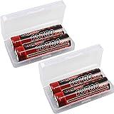 kraftmax 4er Pack 18700 Pro Akku mit PCB...