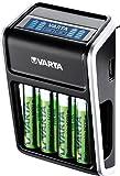VARTA LCD Plug Ladegerät für AA/AAA/9V und...