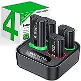 4-Packs Akku für Xbox One/Series X&S Controller,...