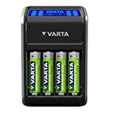 VARTA LCD Plug Ladegerät (für AA/AAA/9V und...